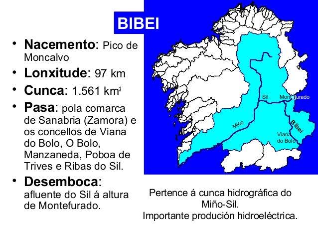 BIBEI  • Nacemento: Pico de  Moncalvo  • Lonxitude: 97 km  • Cunca: 1.561 km2  • Pasa: pola comarca  de Sanabria (Zamora) ...