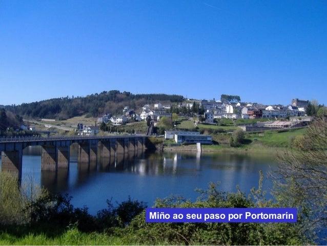 Miño ao seu paso por Portomarín