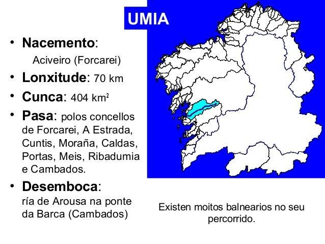• Nacemento:  Aciveiro (Forcarei)  • Lonxitude: 70 km  • Cunca: 404 km2  • Pasa: polos concellos  de Forcarei, A Estrada, ...