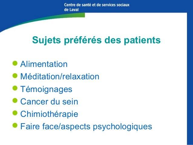 Les statistiques du CICL démontrent que les patients et leurs proches ont besoin d'information!