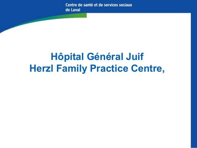 Services actuels de prescription d'information à l'Hôpital général juif Centre de ressources pour les patients et leur fa...