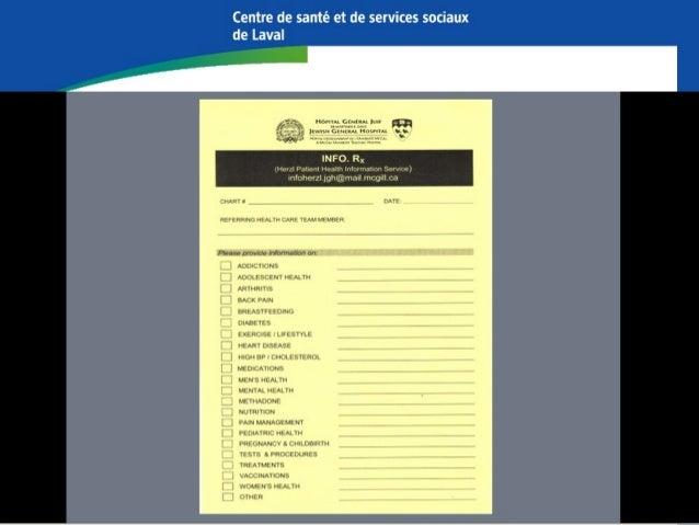 University of Manitoba Neil John Maclean Health Sciences Library Information Prescription Pad ou Infoscript pad instauré e...