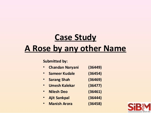 a rose by any other name hbr