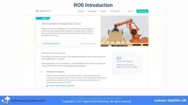 ROS Ecosystem & Applications [HyphaROS] -- by HaoChih