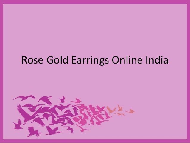 Rose Gold Earrings Online India