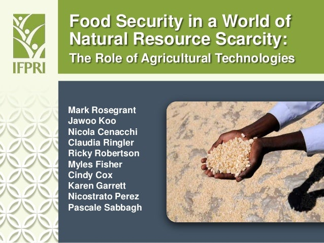 Food Security in a World of Natural Resource Scarcity: The Role of Agricultural Technologies Mark Rosegrant Jawoo Koo Nico...
