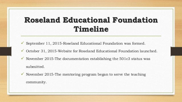 Roseland educational foundation business plan