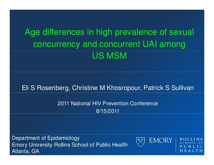 Age differences in high pre alence of se al                             prevalence sexual       concurrency and concurrent...
