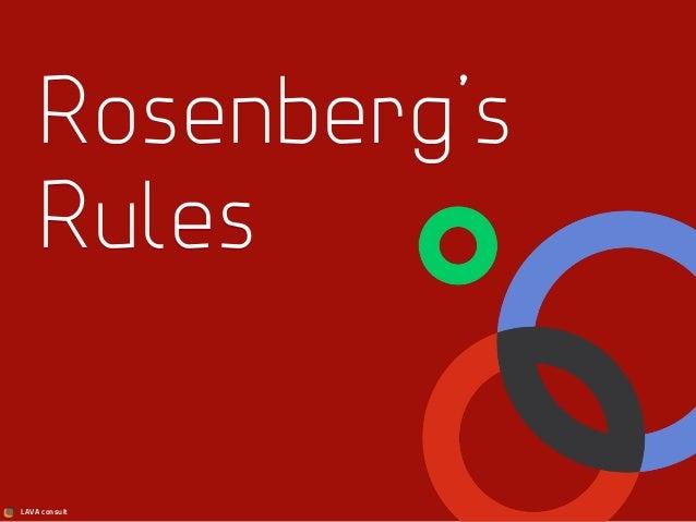 LAVA consult Rosenberg's Rules