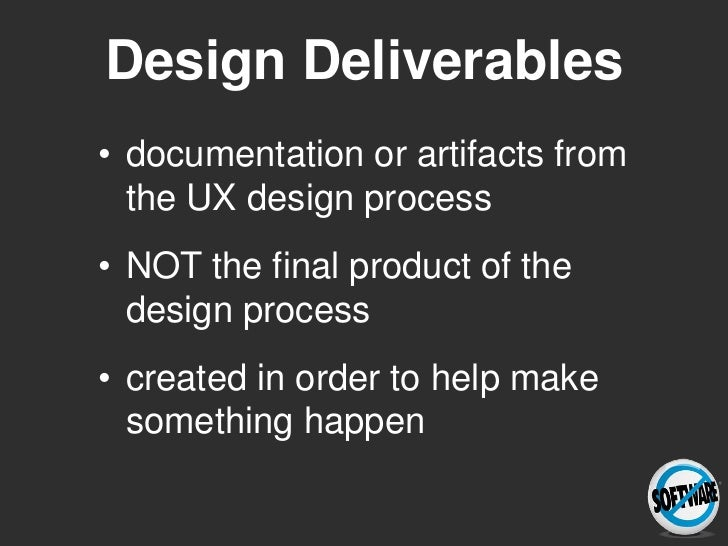 Practicing What We Preach: designing usage centered deliverables Slide 2