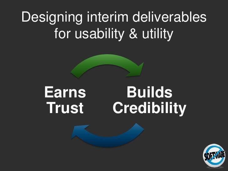 Practicing What We Preach: designing usage centered deliverables Slide 3
