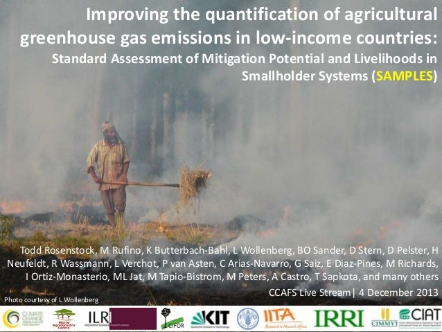 Improving the quantification of agricultural greenhouse gas emissions in low-income countries: Standard Assessment of Miti...