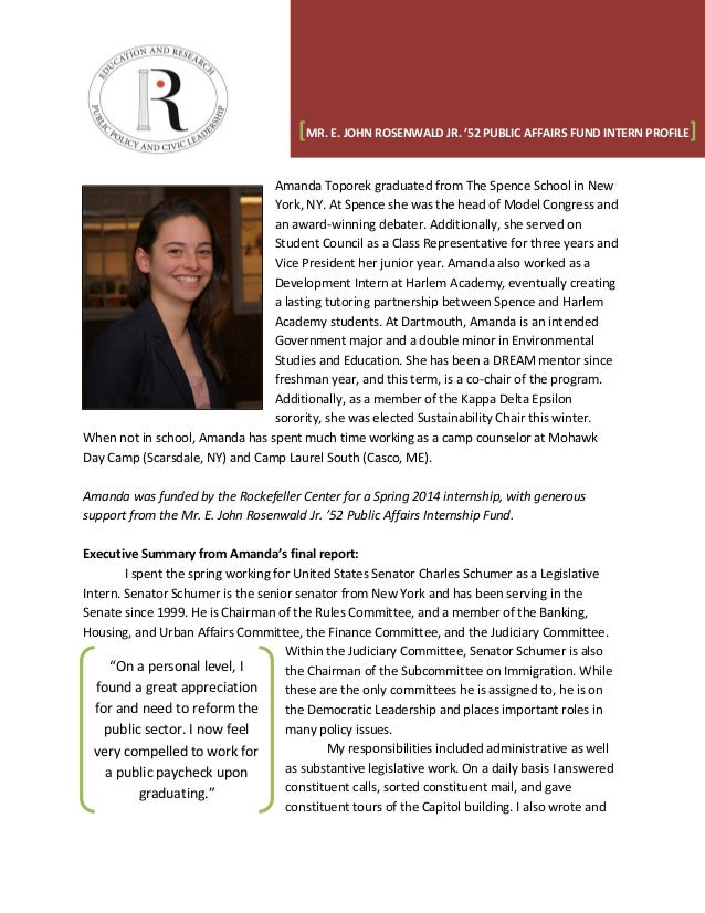 Amanda Toporek graduated from The Spence School in New York, NY. At Spence she was the head of Model Congress and an award...