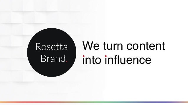 We turn content into influence