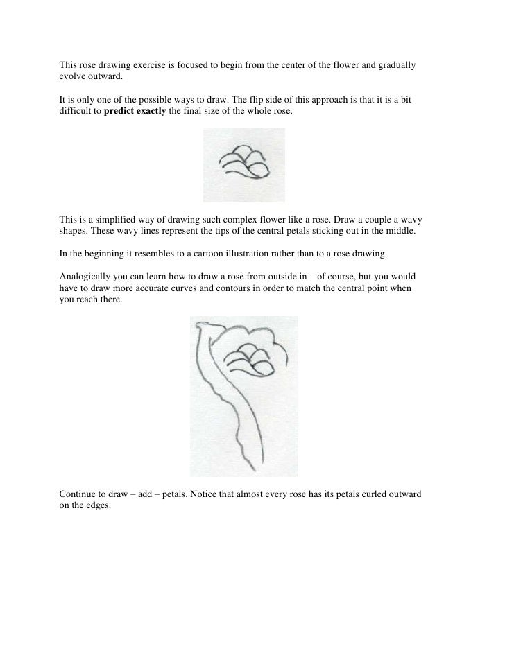 This rose drawing exercise is focused to begin from the center of the flower and graduallyevolve outward.It is only one of...