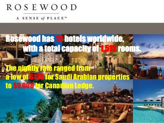 rosewood hotels swot Please read the rosewood case first and then do the swot analysis for rosewood hotel: you can use as much as references as you like please be sure to include the points of the swot analysis.