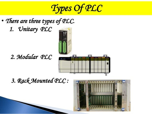 PLC modules: What's on the rack…