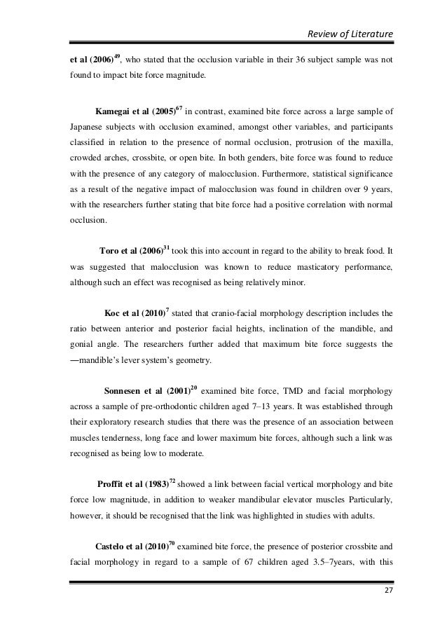 mds orthodontics thesis topics