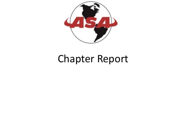 Chapter Report