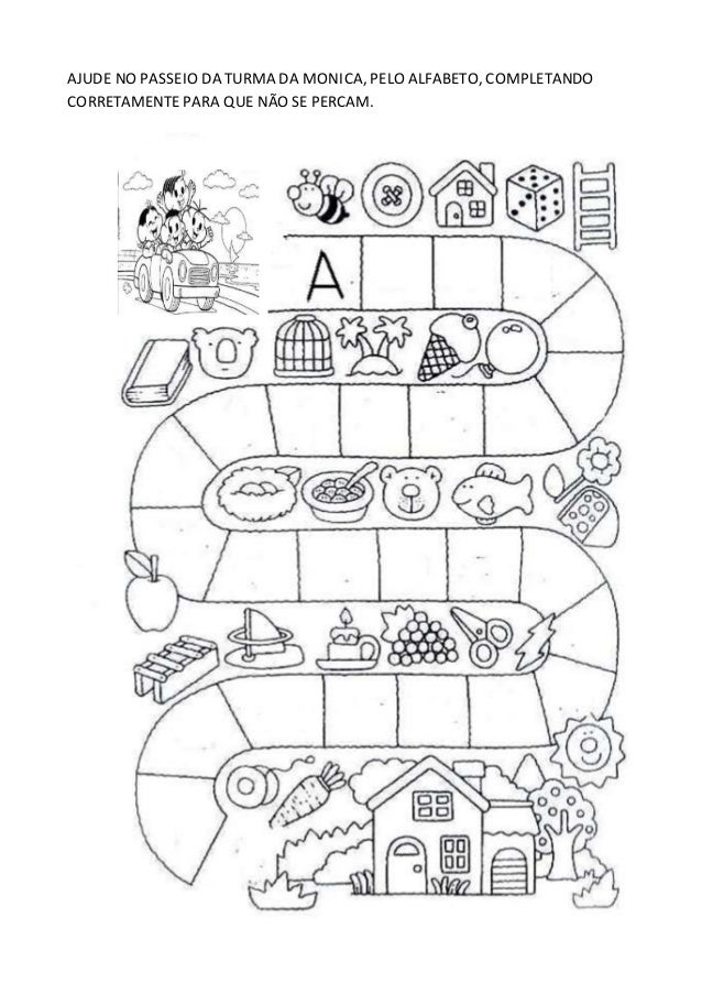 Conhecido atividades com alfabeto JI01