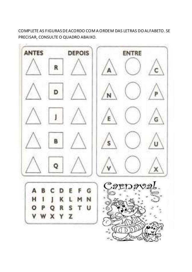Extremamente atividades com alfabeto WP25