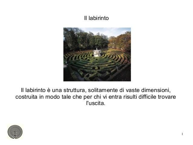 Il labirinto  Il labirinto è una struttura, solitamente di vaste dimensioni,costruita in modo tale che per chi vi entra ri...