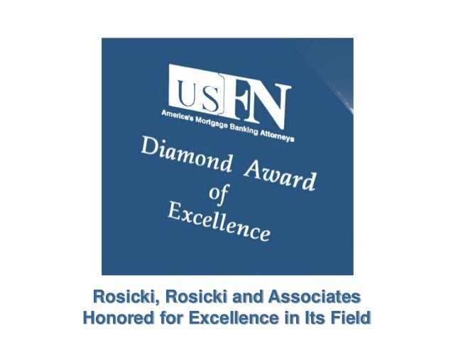 Rosicki, Rosicki and Associates Honored for Excellence in Its Field