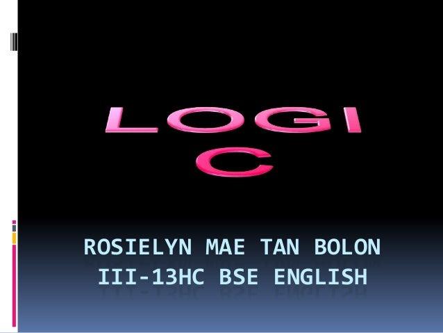 ROSIELYN MAE TAN BOLON III-13HC BSE ENGLISH