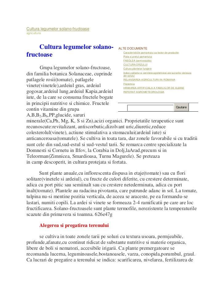 Cultura legumelor solano-fructoaseagricultura     Cultura legumelor solano-                                ALTE DOCUMENTE ...