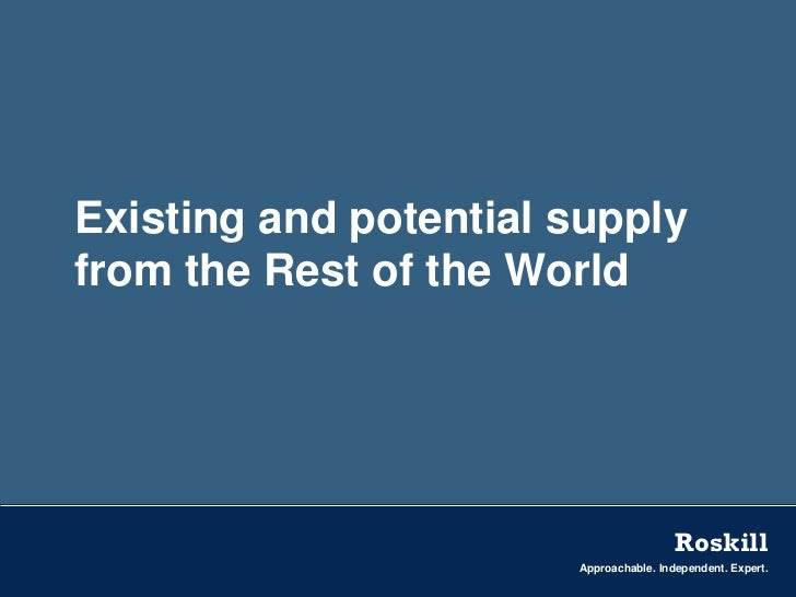 Existing and potential supplyfrom the Rest of the World                                        Roskill                    ...