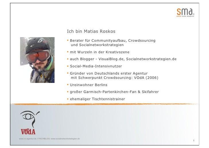 """""""Social Networks und Communityaufbau"""" mit Matias Roskos Slide 2"""
