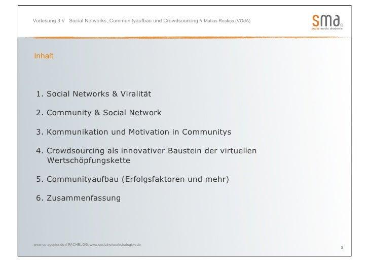 """""""Social Networks und Communityaufbau"""" mit Matias Roskos Slide 3"""
