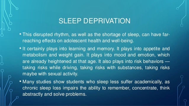 essay on sleep deprivation causes and effect But what causes sleep deprivation what are the consequences of being sleep  deprived and how can the poor tormented sleepy people all over the world get.