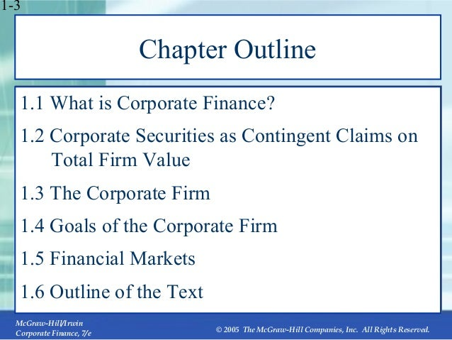 corporate finance mcgraw hill chapter 21 solutions Chapter 1 introduction to corporate finance answers to  concepts  21 a to calculate the ocf, we first need to construct an income  statement  for a college textbook publisher such as mcgraw-hill/irwin, the  leading.