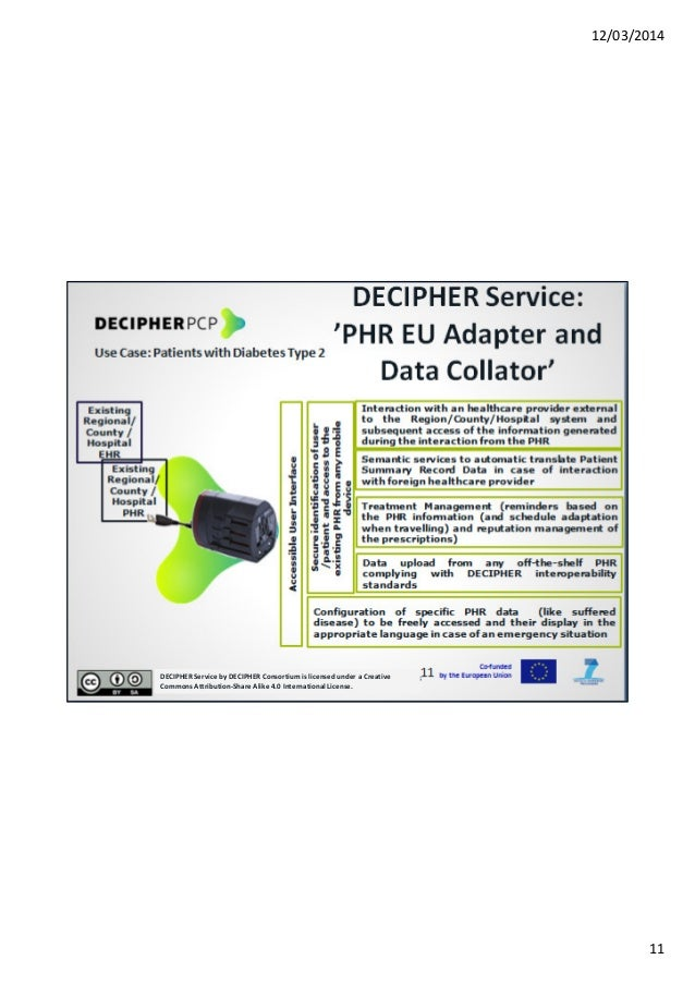 12/03/2014 11 DECIPHER Service by DECIPHER Consortium is licensed under a Creative Commons Attribution-Share Alike 4.0 Int...