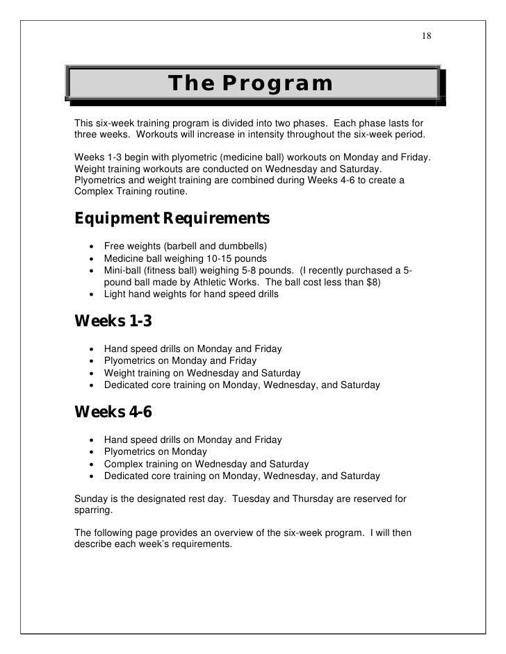 Boxing workout program pdf eoua