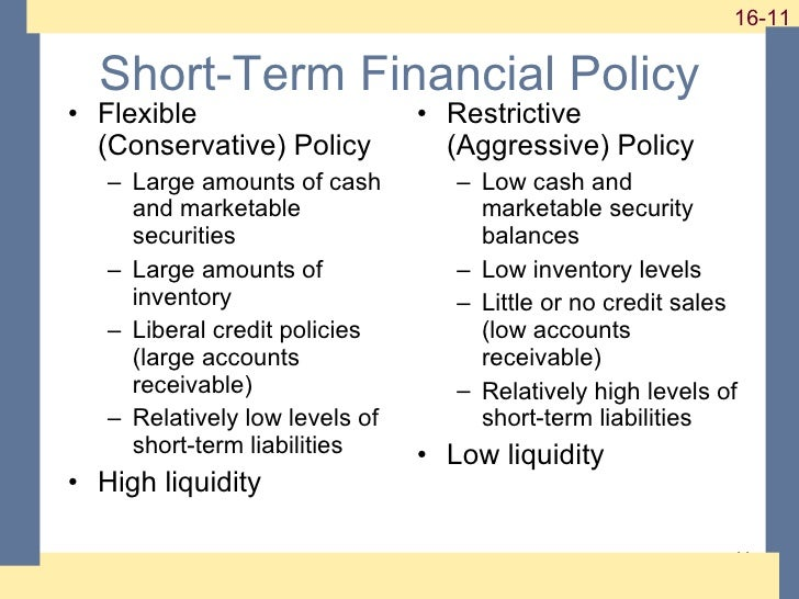 short term financial policies Introduction to financial management author:  cash cycle short-term financial policy flexible financial policy restrictive financial policy carrying versus .