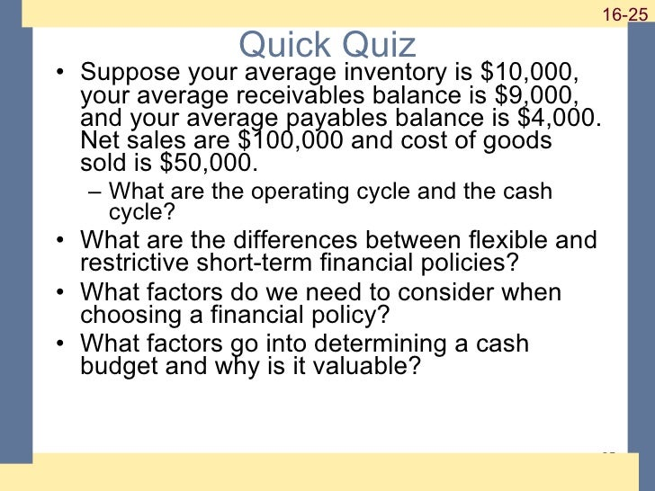 short term financial planning Chapter 19 short -term finance and planning answers to concepts review and critical thinking question s 1 these are firms with.