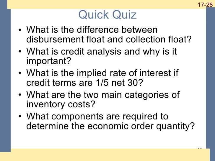 working capital management quiz 1 and 5 Multiple-choice quiz chapter 19: the capital market  (1) chapter 8: overview of working capital  eco-401 chapter 1 mcqs part 2 what is management (1.