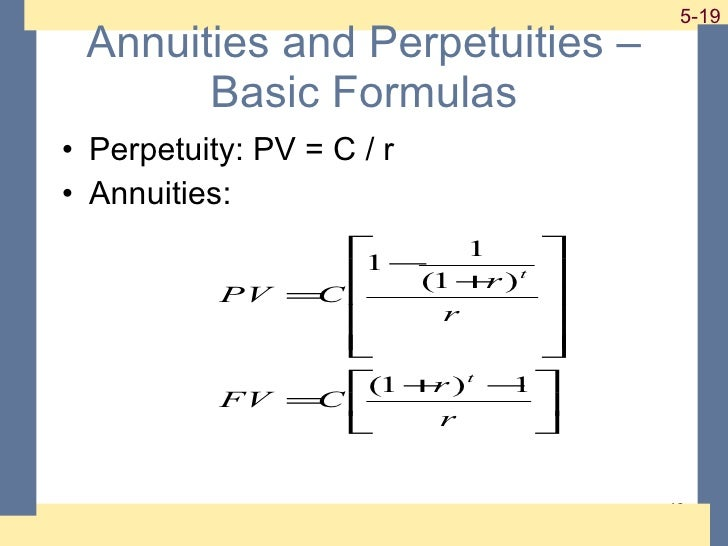 Is an annuity a perpetuity?