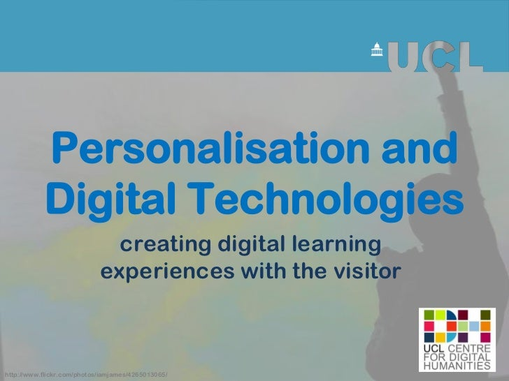 Personalisation and           Digital Technologies                              creating digital learning                 ...