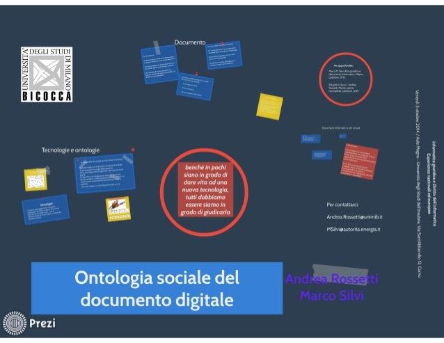 Documento           è' E É E  . - Il;   Dm1'rulinlLrrrulI. ir: lh wmn  Tecnologie e ontologie  benché in pochi siano in gr...