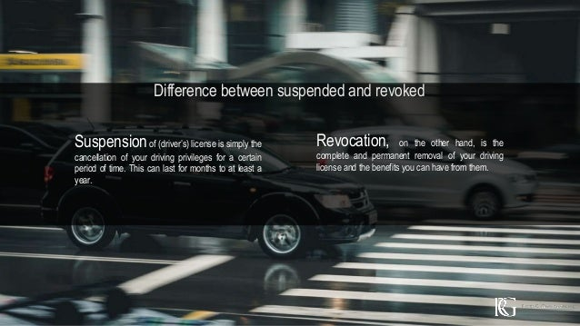 difference between revoked and suspended drivers license