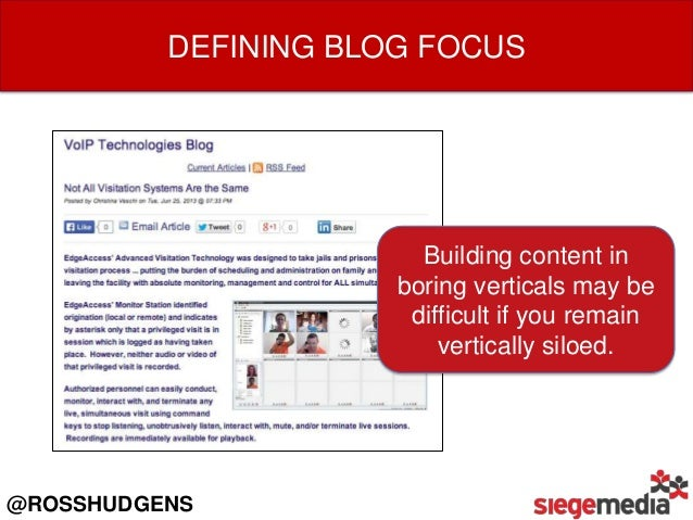 Build in-depth personas so you know what kind of content your buyers are looking for.  @ROSSHUDGENS