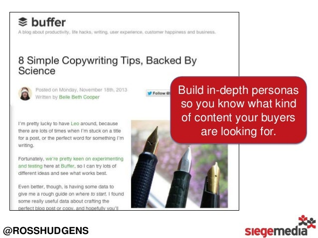 Buffer is a social media sharing platform, but their buyer persona loves many other things, so they blog about it. Well. @...