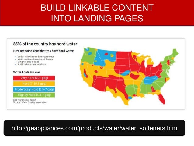 BUILD LINKABLE CONTENT INTO LANDING PAGES  http://www.geappliances.com/products/water/water_heaters.htm