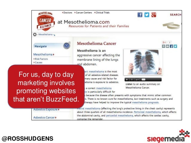 For us, day to day marketing involves promoting websites that aren't BuzzFeed.  @ROSSHUDGENS