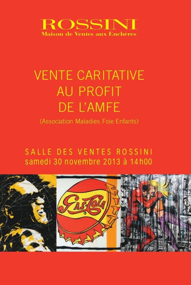 Couv.Cat. Caritatif 301113-A5_Mise en page 1 08/11/13 14:35 Page1  ROSSINI Maison de Ventes aux Enchères  ROSSINI Maison d...