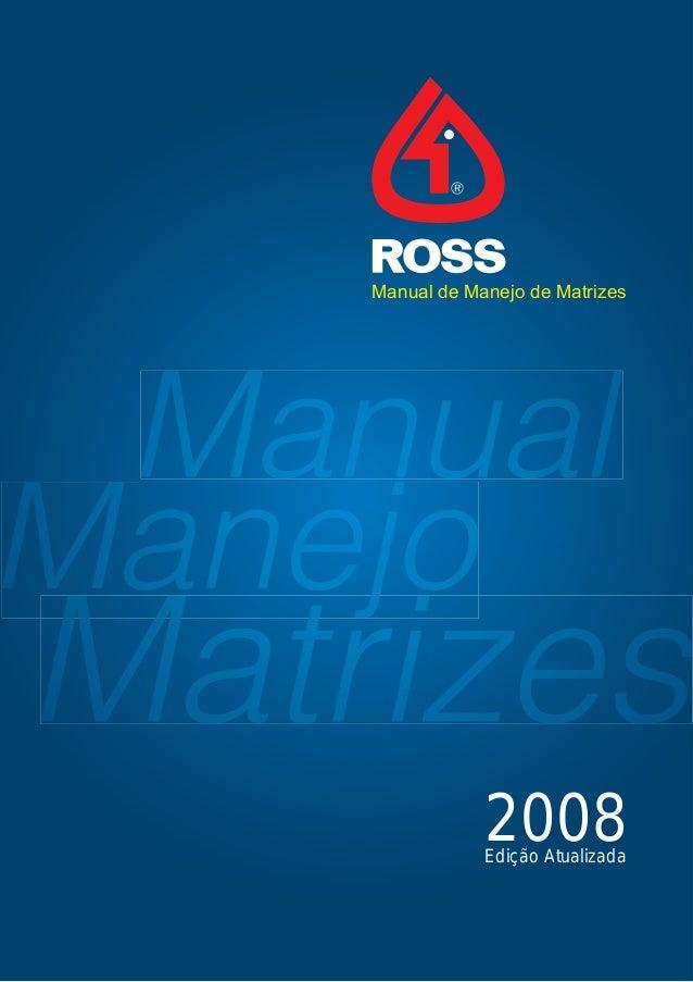 Manual de Manejo de Matrizes 2008Edição Atualizada