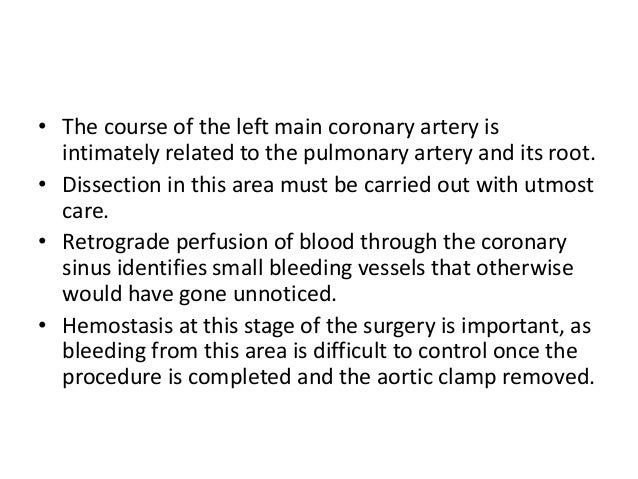 • When the pulmonary artery is well mobilized, a right-angled clamp is introduced into the right ventricle through the pul...